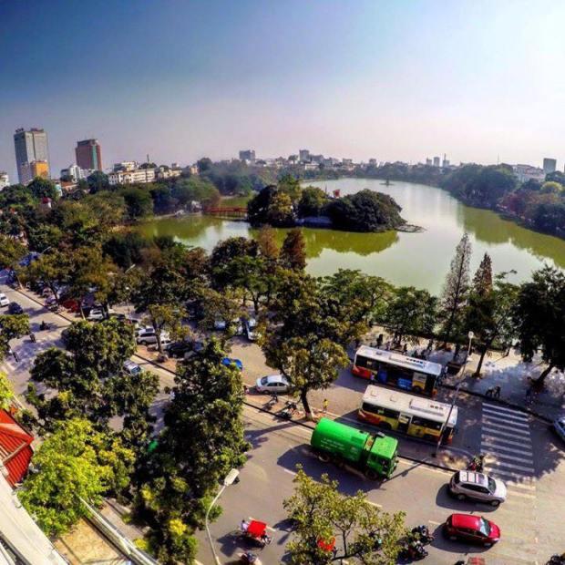 hanoi skyline vietnam summer
