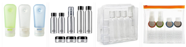 reusable travel bottles