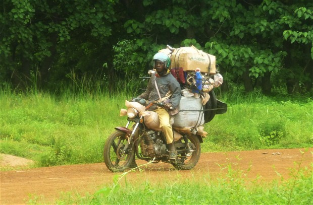 Ghana man on motorbike