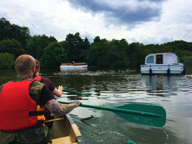 Kayaking Salhouse Broad Norfolk
