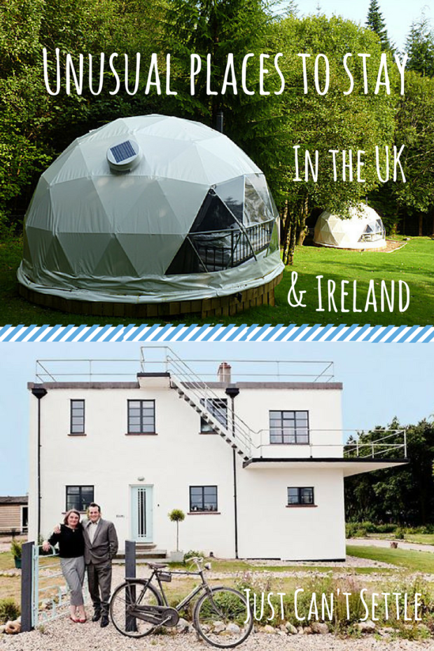 Unusual Accommodation UK Ireland Just Can't Settle