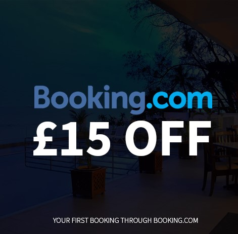 15 GBP off Booking dot com