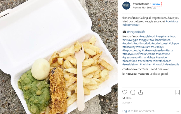 Frenchs Vegan Battered Sausage Chips Norfolk