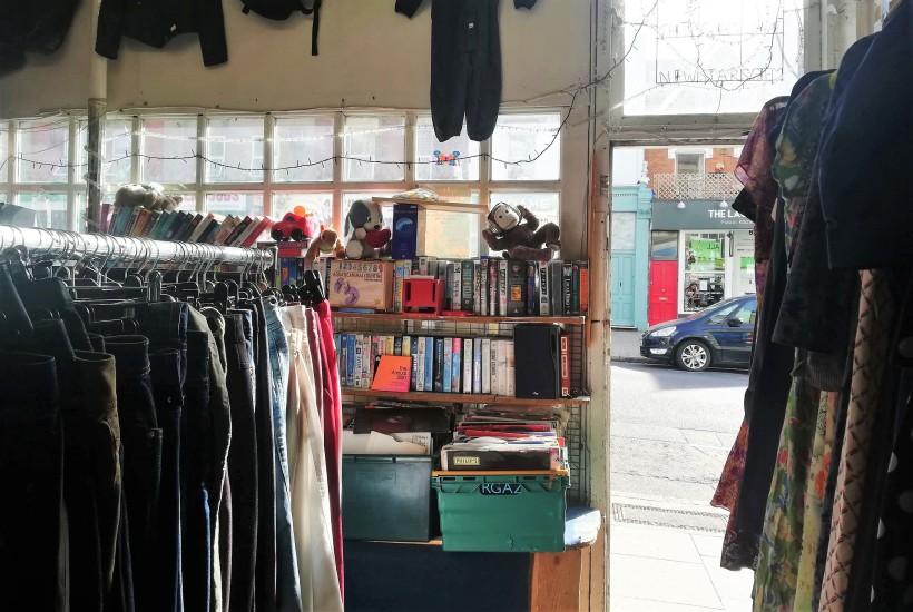 charity shop thrifting london