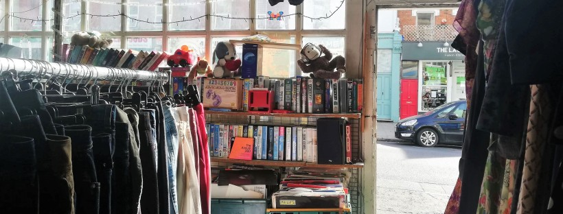 charity shop thrifting london