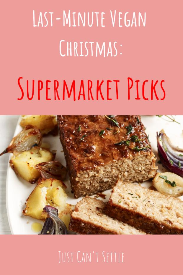 Vegan Christmas supermarket food