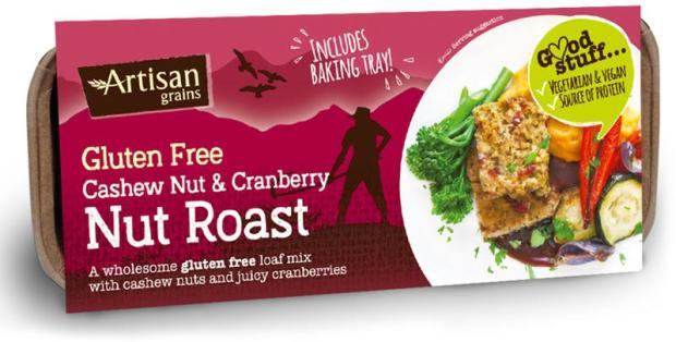 artisan grains vegan gluten free nut roast