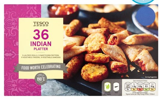 tesco vegan indian buffet platter