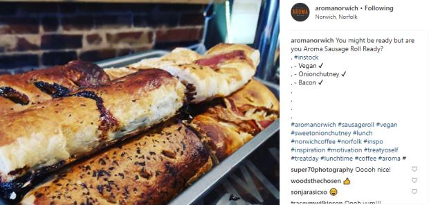 aroma vegan sausage roll
