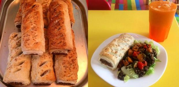 kindakafe norwich vegan sausage rolls