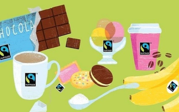 fairtrade supermarket items illustration