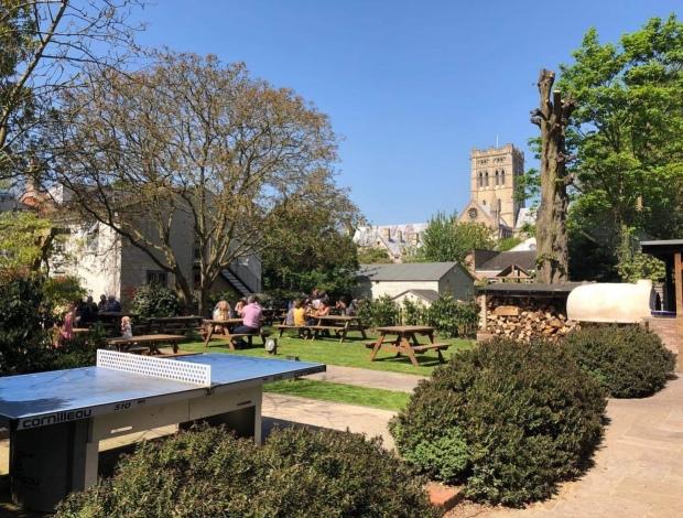 The Georgian townhouse beer garden