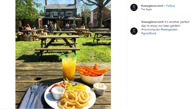 The Eagle Norwich Beer Garden